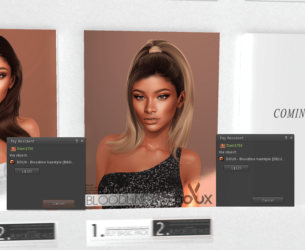 Doux Bloodline Hairstyle HUD review