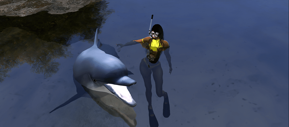 Animesh pets dolphins Second Life